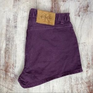 Vintage Calvin Klein Purple High Waisted Shorts